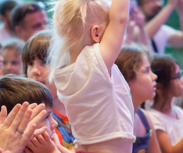 Kids can learn how to sing and dance at the Little Jammers Performance Workshop at the Gallery of Modern Art.