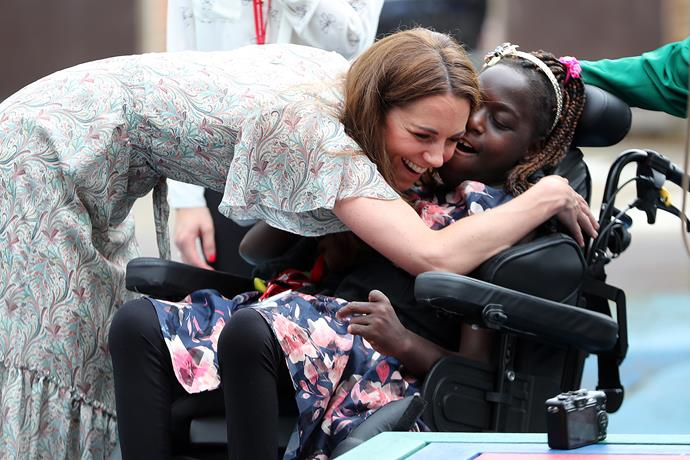 The Duchess has proved she's a natural with young people.