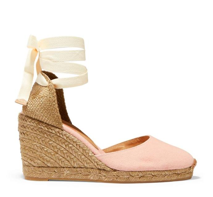 "If you want a splash of colour, these adorable Kate-approved Castañer Carina wedges in pink are currently on sale for $76.33 on Net-A-Porter - but you'll have to be quick! Buy them [here](https://www.net-a-porter.com/au/en/product/1114317|target=""_blank""