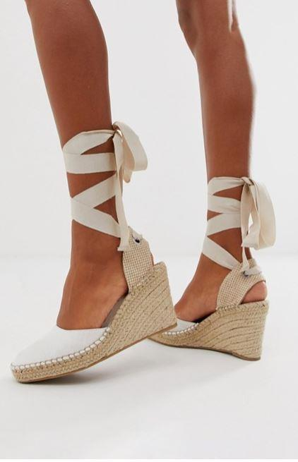 "These $60 ASOS design Jaylen espadrille wedges are perfect for your spring/summer wardrobe. Buy them [here](https://www.asos.com/au/asos-design/asos-design-jaylen-espadrille-wedges-in-white/prd/10905063|target=""_blank""