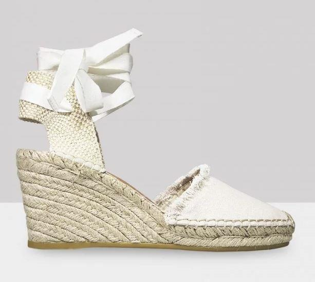 "These Wittner wedges come complete with an adorable raw trim. For $82.50, you can sign us up! Buy them [here](https://www.wittner.com.au/zerra-natural-canvas-espadrille-wedge.html|target=""_blank""