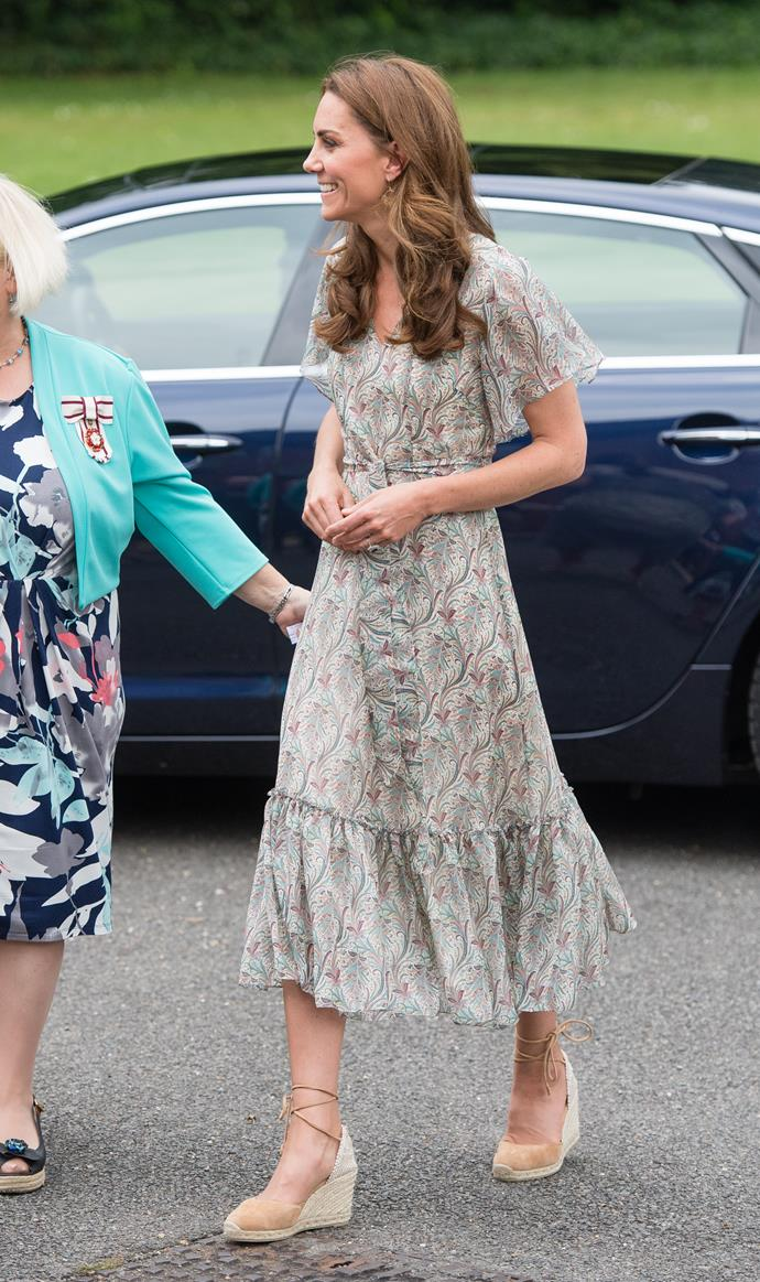 Espadrille dreams! Kate's UK summer look was pure heaven.