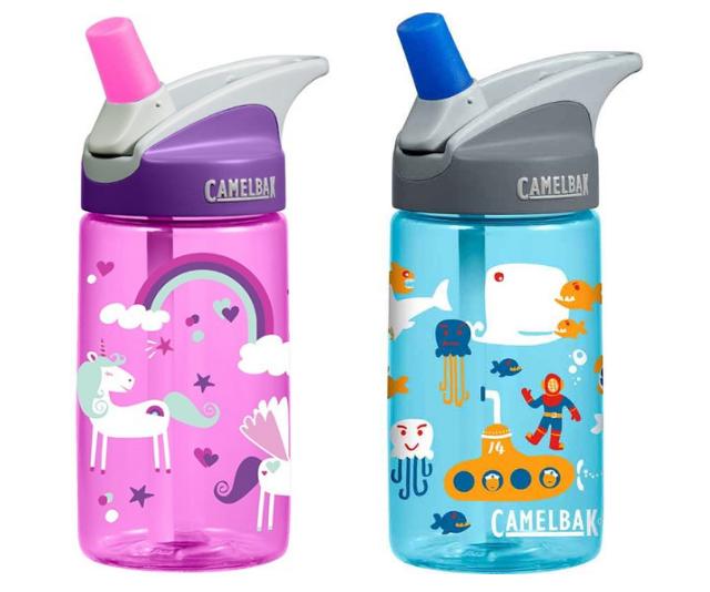 "[Camelbak Bottle Eddy Kids 0.4L](https://www.babybunting.com.au/camelbalk-bottle-eddy-kids-4l-sea.html|target=""_blank""|rel=""nofollow""), $22.95. Eddy kids, the BPA free, child safe spill free bottle Mums are raving about."