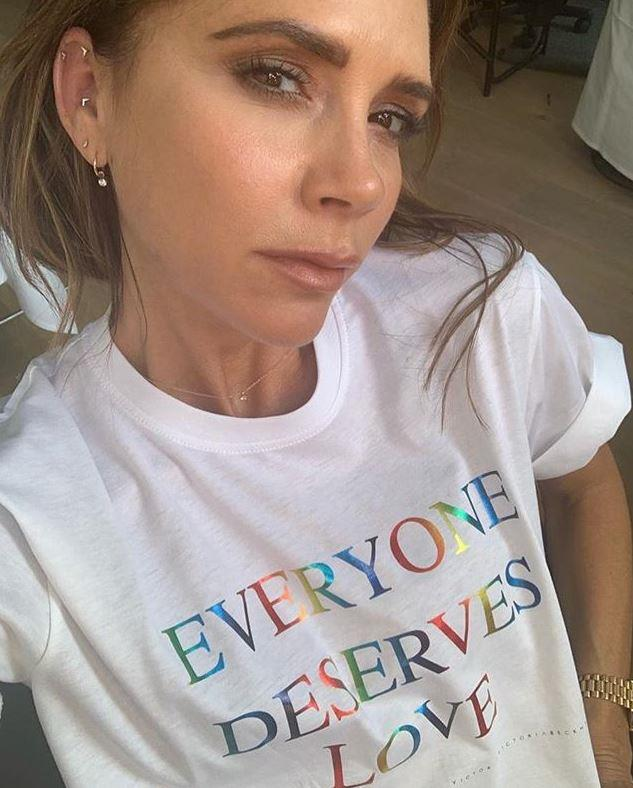 Victoria Beckham has shared an encouraging message with a brand new design.