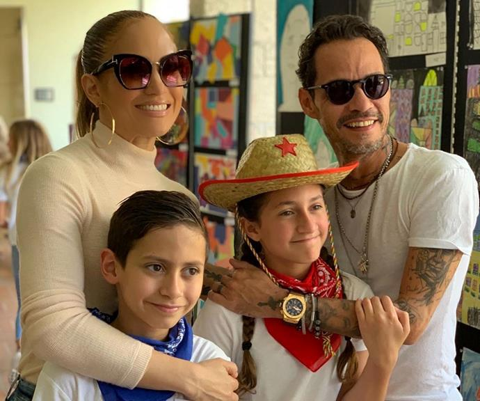 JLo and Marc Anthony share twins Max and Emme.