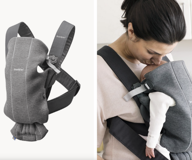 "**Baby Björn Baby Carrier Mini:** Babies are like sensory sponges, so activities like walks and trips out of the house are the perfect occasion to bond with your wee one. [Baby carriers](https://www.nowtolove.com.au/parenting/expert-advice/best-baby-carriers-australia-40830|target=""_blank"") like the Baby Björn Mini allow your baby to absorb the world around them, while also feeling close and safe on your chest with you."