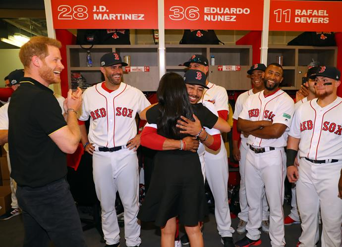 Including the unexpected moment Meghan met her distant relative, Mookie Betts!