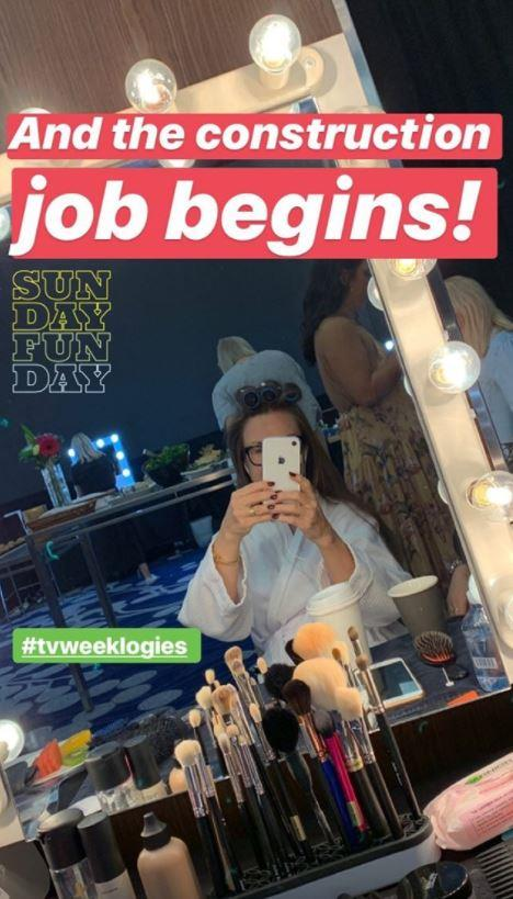 "The stunning Lisa Wilkinson seems to think her hair and makeup requires a ""construction job"" - but we doubt that, she's stunning already!"