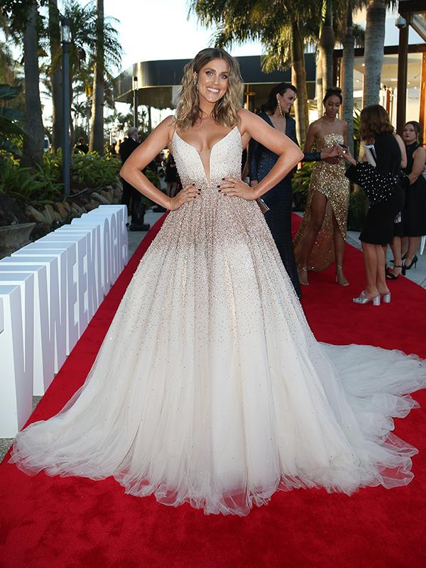 *Bachelorette* golden girl Georgia Love looks like a real life Princess in this divine gown.