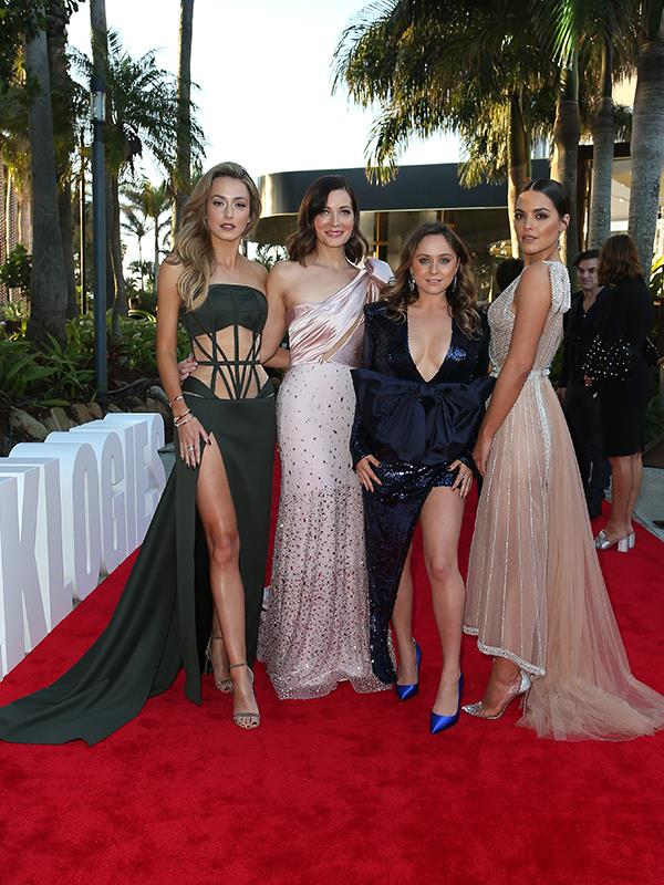*Playing for Keeps*? More like playing for gold! The ladies of the hit AFL drama are a sight to behold - Isabella Giovinazzo's khaki gown is pure glamour, Annie Maynard's pale pink ensemble oozies perfection and as for Cece Peters and Olympia Valance? We want their dresses in our wardrobes right now!