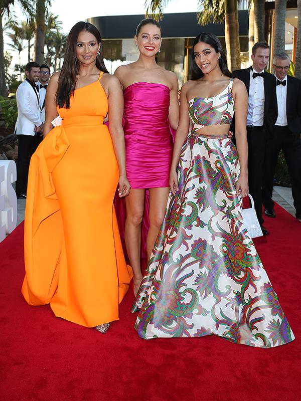 April Rose Pengilly, Olivia Junkeer and Sharon Johal look utterly radiant.