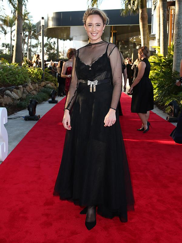 Gold Logie nominee Eve Morey stuns in a classic black number.