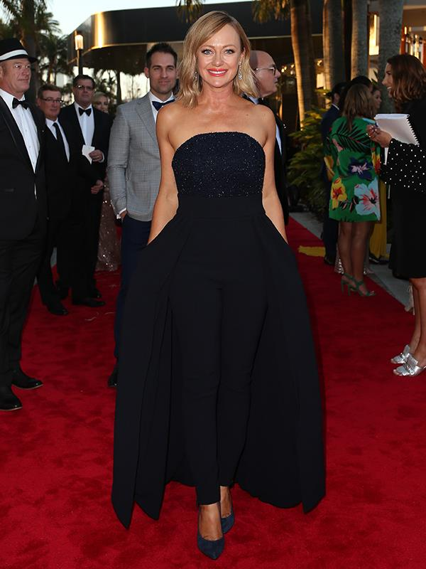 And *The Block's* Shelly Craft looks elegant in this strapless gown.