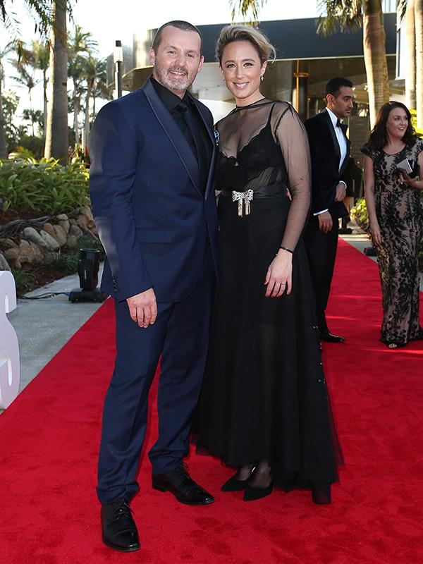 Ryan Moloney and Eve Morey on the TV WEEK Logies red carpet.