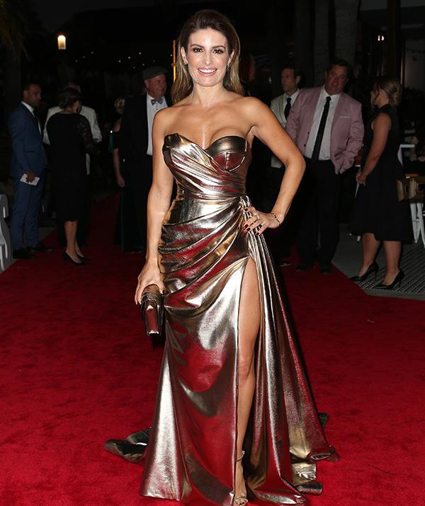 Ada Nicodemou is a golden goddess! We can't get enough of this *stunning* gown on the *Home and Away* beauty.