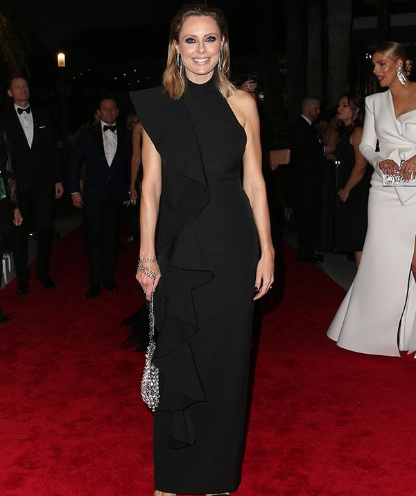 Allison Langdon is oozing class in this chic black number.
