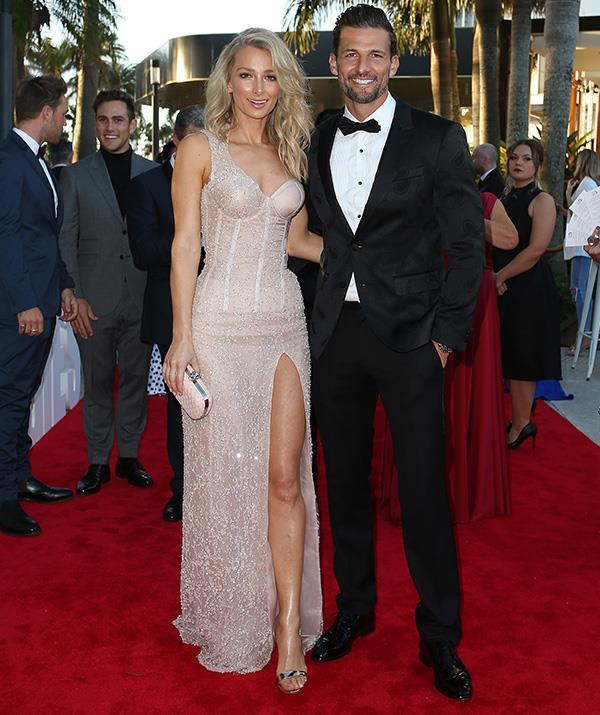 One of Ramsay Street's newer residents, former *Bachelor* Tim Robards, brought his wife Anna Heinrich to the star-studded event.