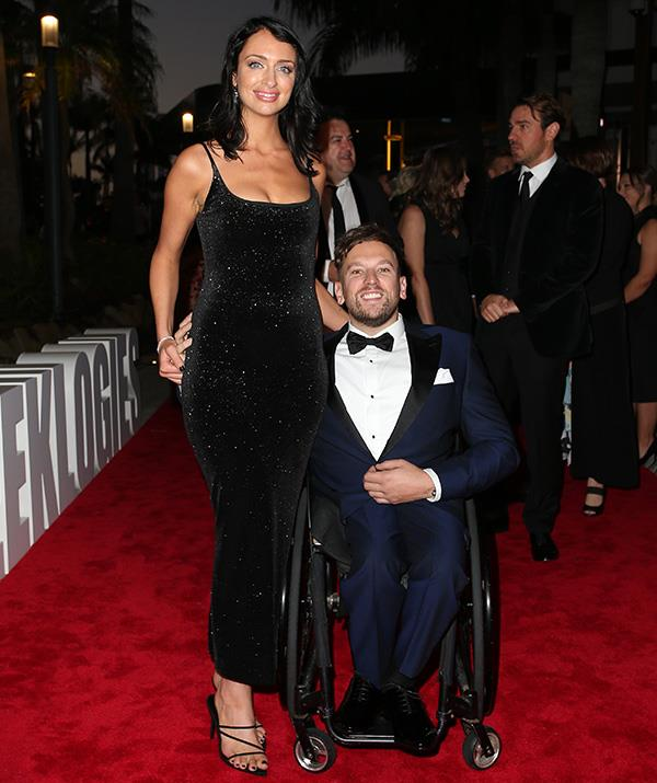 Dylan Alcott and partner Chantelle Otten made an elegant, classy and oh-so-chic couple on the red carpet.