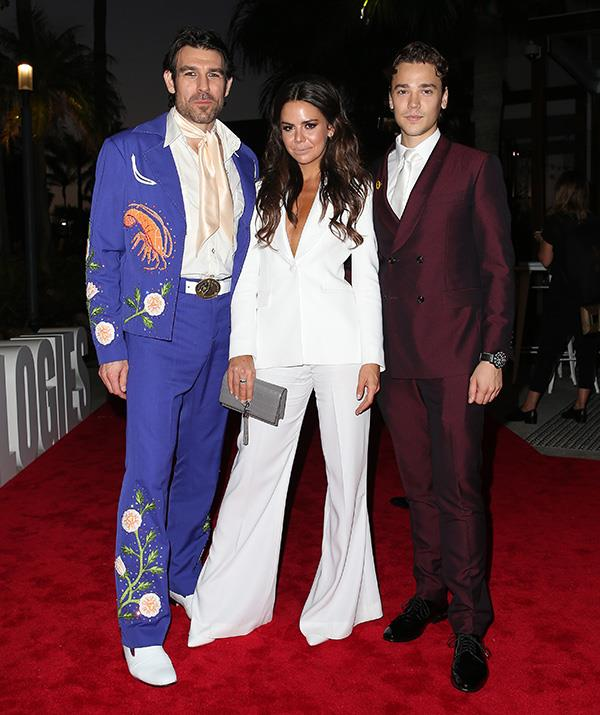 Summer Bay sizzlers! Rohan Nichol, Emily Weir and Lukas Radovich bring colour and pizzazz to the red carpet.