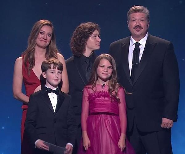 This year's international guests were the cast of *Young Sheldon* - who better to present the Comedy award?