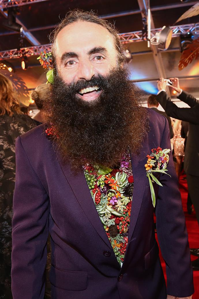 The television host brought plenty of colour to the Logies red carpet!