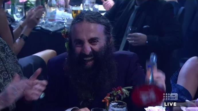 Costa was stoked to win a SECOND Logie for *Gardening Australia*.