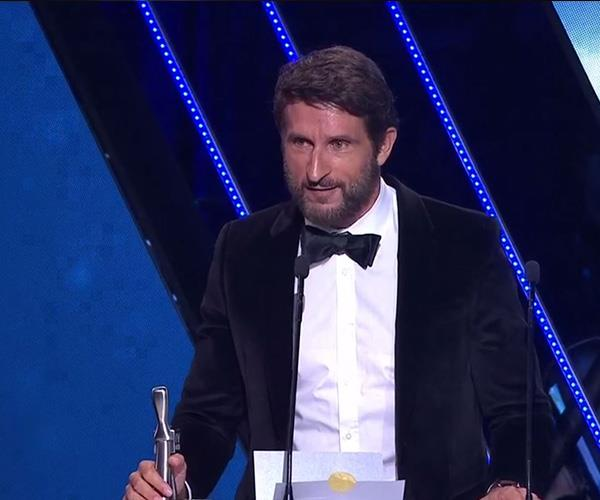 The tribe has spoken: Jonathan LaPaglia collected the Logie for Most Outstanding Reality Program for *Australian Survivor: Champions Vs Contenders*.