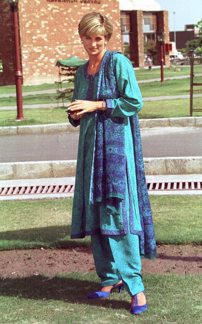 Princess Diana paid several visits to Pakistan over the years.
