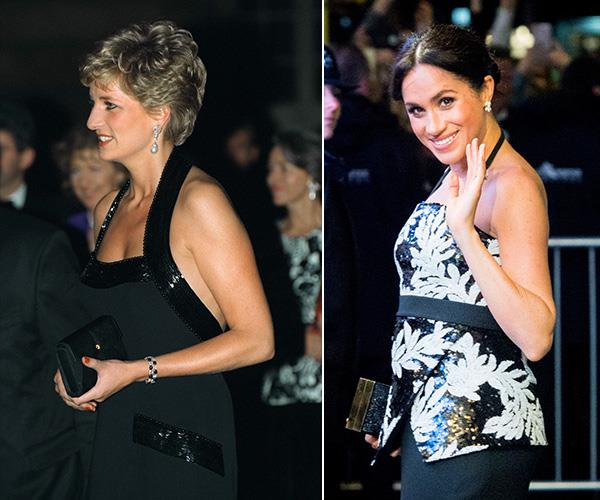 The late Princess of Wales and the Duchess of Sussex both look phenomenal when wearing halter necks too.