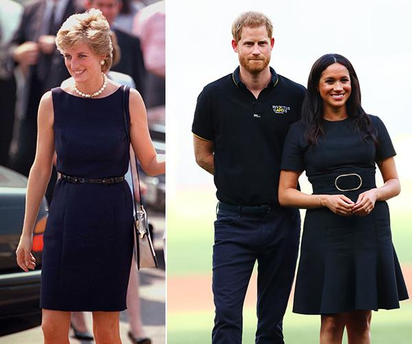 A black dress with a simple waist belt: these royal ladies know how to accessorise.