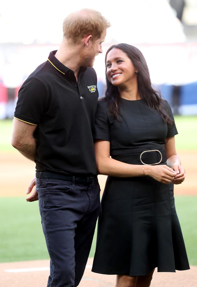 Duchess Meghan stepped out on the baseball field in support of the Invictus Games over the weekend.