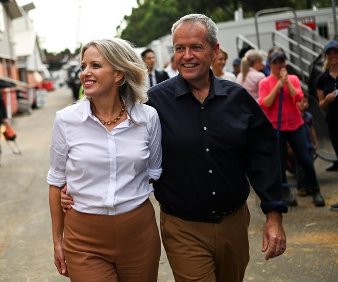 Chloe and Bill Shorten on the campaign trail during the 2019 federal election.