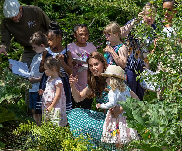 "The Duchess of Cambridge was very ""hands on"" when it came to planting and mulching."