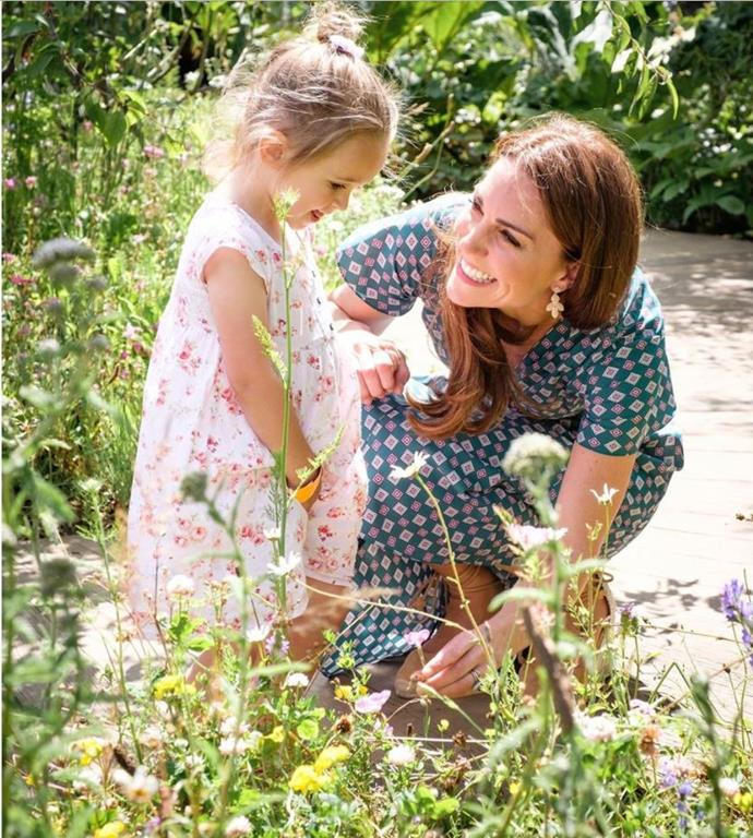 Kate was particularly taken with one little girl around the same age as Princess Charlotte.