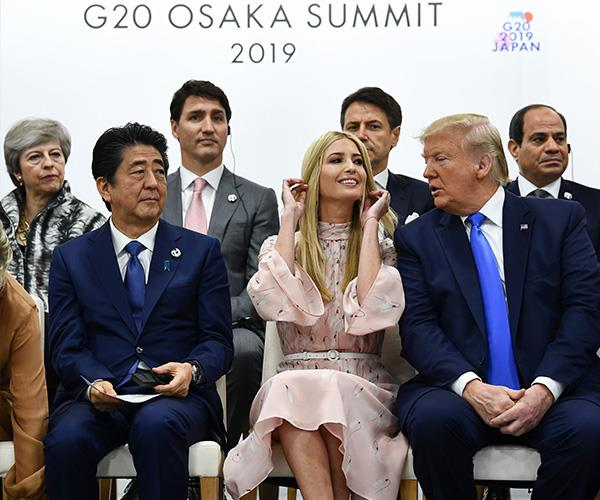 Ivanka was criticised for joining world leaders at the G20 summit.