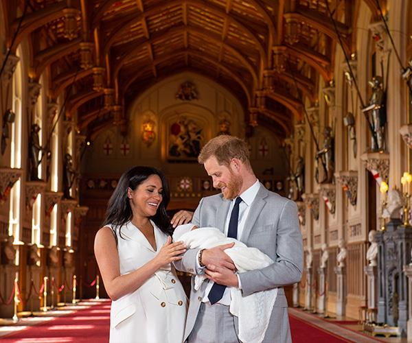 The first official photo call with Meghan and Harry's royal baby was nothing less than extraordinary.
