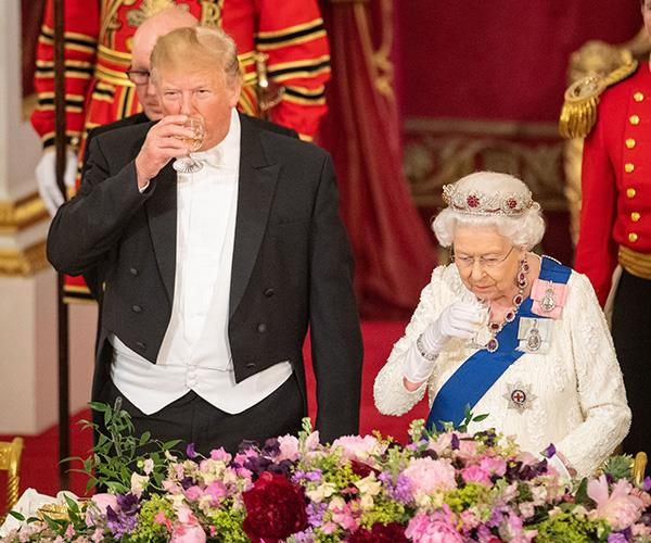 Trumps visit earlier this year involved a number of royals, but Meghan was unable to join.