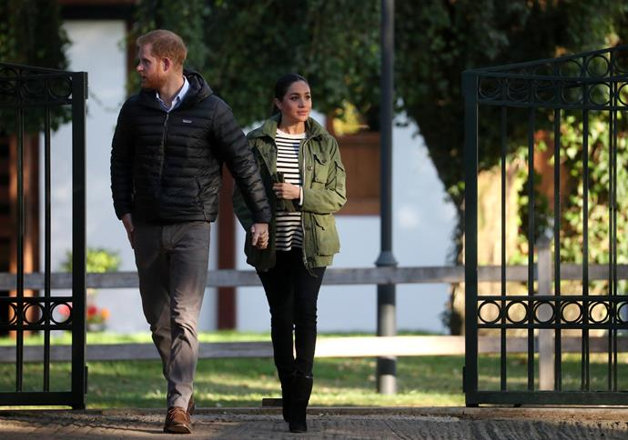 Meghan is said to enjoy taking Archie for walks in his pram around nearby Home Park.