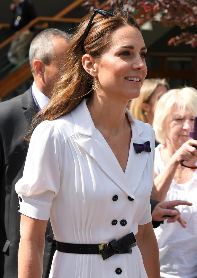 The Duchess was tennis-ready!
