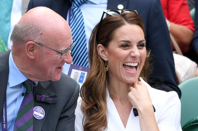Seated in the royal box, the Duchess looked to be having a fantastic time on day two of the prestigious tournament.