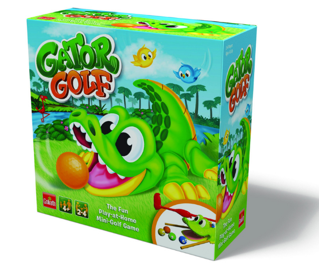 **Gator Golf RRP $29.99:** 2019 has seen a relaunch of this 90's classic! Putt the ball into his mouth and watch his tail flip it back to you! Suitable for kids aged 3+ and available at Big W and other leading retailers.