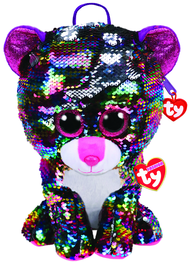 **Ty Beanie Boos RRP from $12:99:** Love Ty Beanie Boos?  Now you can dress head-to-toe in Ty Fashion, featuring your favourite characters, reimagined as wristlets, purses, backpacks, slippers and slides … and they're sparkly! Featuring a mix of sparkles and glam plush, with the trendy colourchanging metallic sequins that flip and tip creating gorgeous looks and patterns. Available at most leading toy retailers.