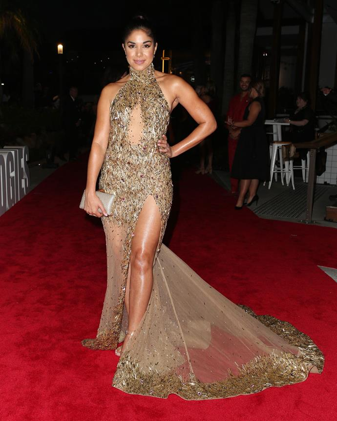 Sarah stunned in Alin Le' Kal at the TV WEEK Logie Awards, and will be wearing a gown by the same designer for her wedding day!