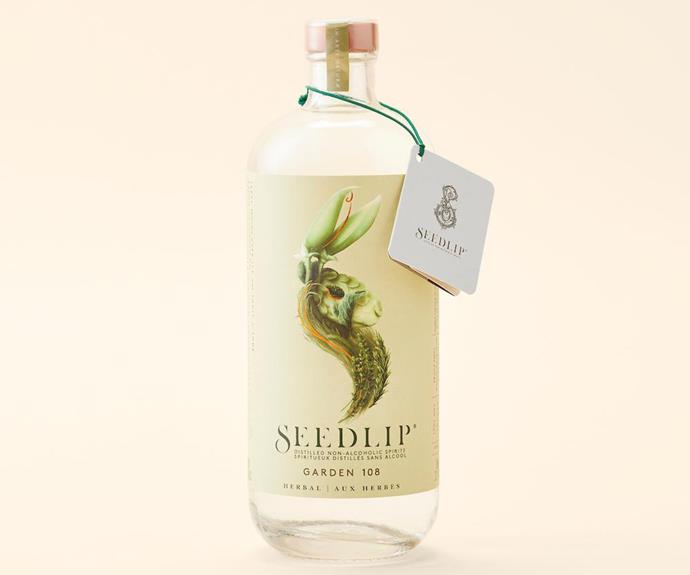 **SEEDLIP** <br><br> Seedlip completely changed the game when it comes to non-alcoholic spirits. The beautiful bottle and subtle but complex flavours make you feel as though you're drinking a high-end gin. Team with your favourite mixer and some garnishes like citrus or herbs.  <br><br> *$49, from Dan Murphy's*