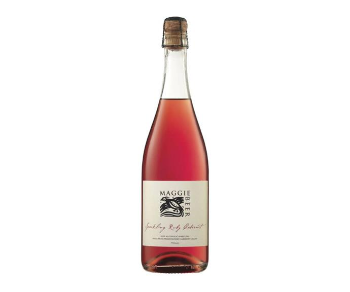 **MAGGIE BEER SPARKLING RUBY CABERNET** <br><br> Aussie food legend Maggie Beer's range of gourmet products includes this amazing non-alcoholic wine made from Cabernet grapes.  <br><br> *$12, from Dan Murphy's and Woolworths*