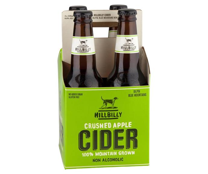 "**HILLBILLY CRUSHED APPLE CIDER** <br><br> This delicious cider is now available in a booze-free version! The perfect refreshment for an afternoon bevvy in the sun.  <br><br> *$13.30, Harris Farm, [alcofree.com.au](https://www.alcofree.com.au/products/hillbilly-crushed-apple-cider|target=""_blank""
