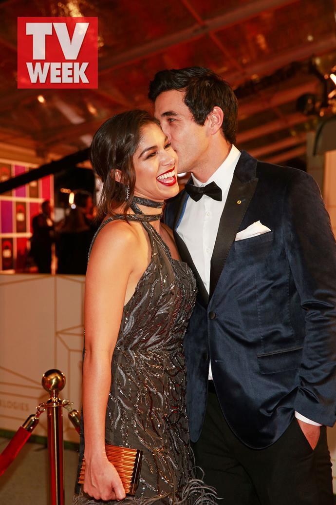 Sarah and James at the 2017 TV WEEK Logie Awards.