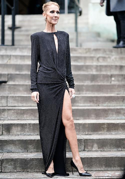 Attending the Alexandre Vauthier show earlier this year, Dion had an Angelina Jolie moment that was almost better than the OG leg-popper herself.