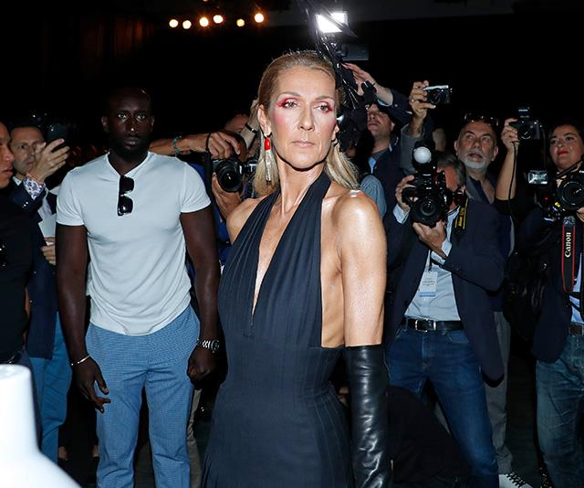 "For the Schiaparelli show the very same week, Celine opted for an [edgy black dress](https://www.nowtolove.com.au/celebrity/celeb-news/most-dangerous-celebrities-on-the-internet-41200|target=""_blank"") designed by Roseberry with a surprise pop of colour around the eyes. Heavenly."