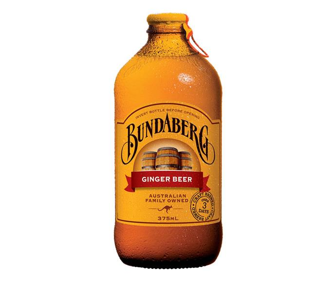 **BUNDABERG GINGER BEER** <br><br> Ginger beer is a super delicious and refreshing drink choice. You can order it at the pub or pick some up during your next grocery shop.  <br><br> *$14.60 for a case of 10, Woolworths and Coles*